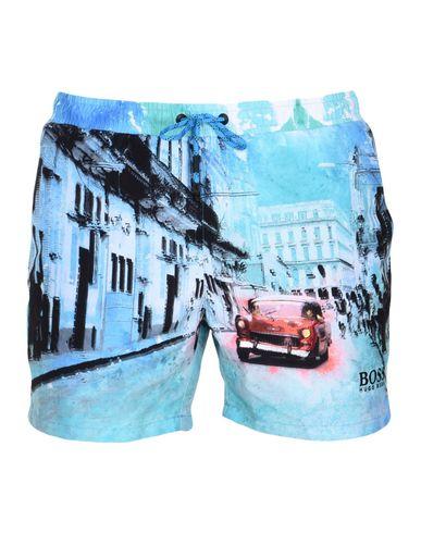 BOSS | Лазурный Мужские лазурные шорты для плавания BOSS HUGO BOSS техническая ткань | Clouty