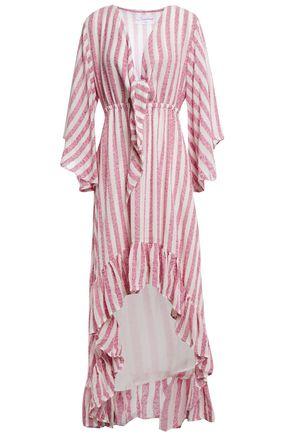 Sundress | Sundress Woman Juliana Asymmetric Knotted Cotton-blend Gauze Coverup Fuchsia | Clouty