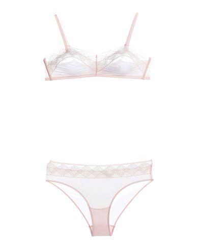 Hanro | Светло-розовый комплект белья HANRO кружево | Clouty