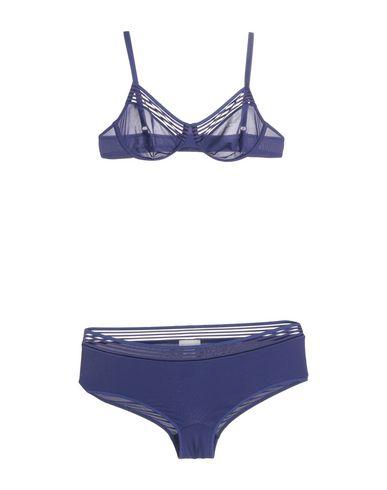 Hanro | Женский темно-синий комплект белья HANRO джерси | Clouty