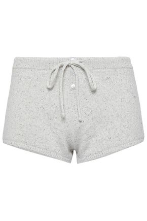 Eberjey | Eberjey Woman Marled Knitted Pajama Shorts Light Gray | Clouty