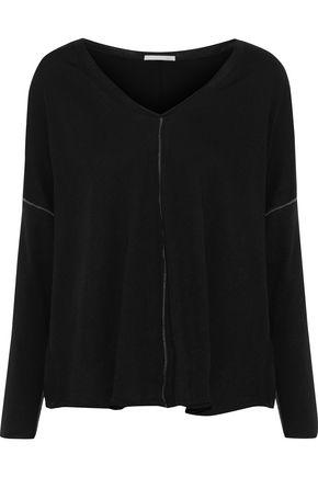 Skin | Skin Woman Cotton-jersey Pajama Top Black | Clouty