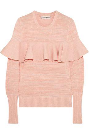 Apiece Apart | Apiece Apart Woman Ruffled Cotton-blend Sweater Pink | Clouty