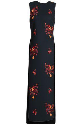 Ellery | Ellery Woman Cutout Floral-print Crepe Midi Dress Black Size 4 | Clouty