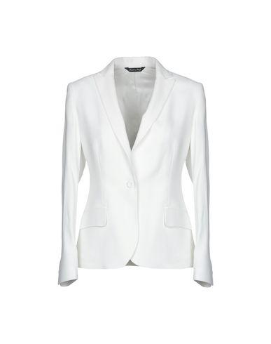 Brian Dales | Белый; Темно-синий Женский белый пиджак BRIAN DALES Креп | Clouty