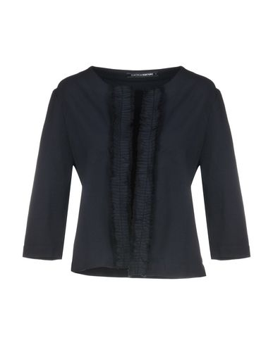 European Culture | Женский темно-синий пиджак EUROPEAN CULTURE флис | Clouty