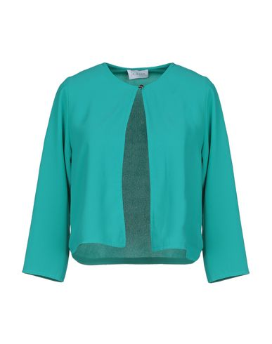 La Kore | Зеленый; Лососево-розовый Женский зеленый пиджак LA KORE креп | Clouty