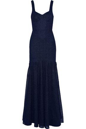 REBECCA VALLANCE | Rebecca Vallance Woman Avignon Tie-back Lace Gown Navy | Clouty