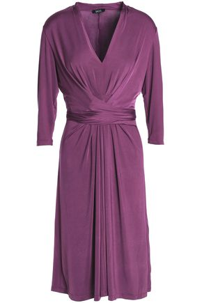 Raoul | Raoul Woman Draped Stretch-jersey Dress Purple | Clouty
