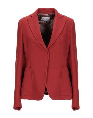 L'Autre Chose   Ржаво-коричневый; Черный Женский пиджак L' AUTRE CHOSE креп   Clouty