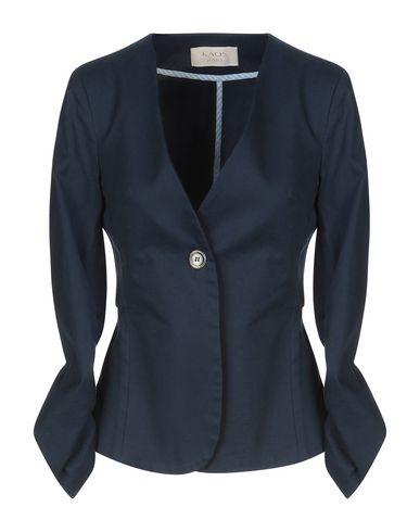 Kaos | Темно-синий; Коричневый Женский темно-синий пиджак KAOS JEANS плотная ткань | Clouty