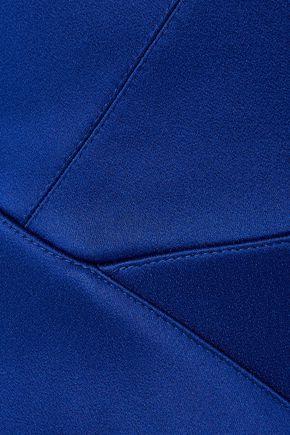 Roland Mouret   Roland Mouret Woman Cawthorne Off-the-shoulder Satin Gown Royal Blue   Clouty