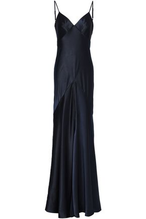 Amanda Wakeley | Amanda Wakeley Woman Satin Gown Navy | Clouty