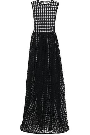 JIL SANDER | Jil Sander Woman Crochet-knit Cotton-blend Gown Black | Clouty