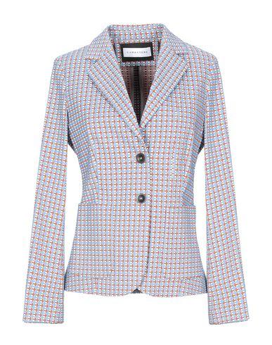 Caractère | Лазурный; Сиреневый Женский лазурный пиджак CARACTERE жаккардовая ткань | Clouty