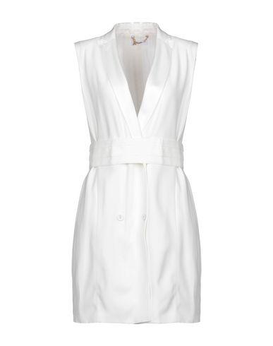 Patrizia Pepe | Белый; Небесно-голубой Женское белое короткое платье PATRIZIA PEPE шелк-кади | Clouty