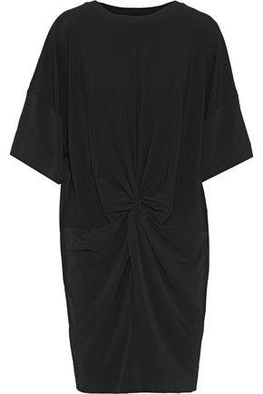 By Malene Birger   By Malene Birger Woman Aliya Knotted Stretch-crepe Mini Dress Black   Clouty