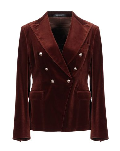 Tagliatore 0205 | Коричневый; Темно-синий Женский коричневый пиджак TAGLIATORE 02-05 бархат | Clouty