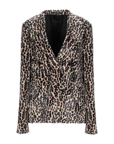 Tagliatore 0205 | Женский бежевый пиджак TAGLIATORE 02-05 велюр | Clouty