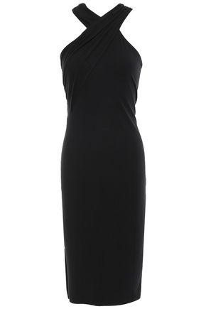 T by Alexander Wang | Alexanderwang.t Woman Cutout Stretch-modal Dress Black | Clouty