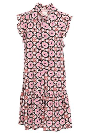 KATE SPADE | Kate Spade New York Woman Printed Crepe Mini Dress Pastel Pink | Clouty