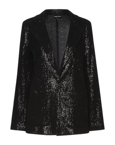 Giorgio Armani | Женский черный пиджак GIORGIO ARMANI бархат | Clouty