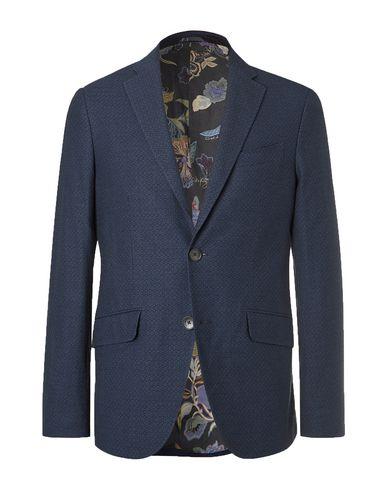 Etro   Мужской темно-синий пиджак ETRO плотная ткань   Clouty
