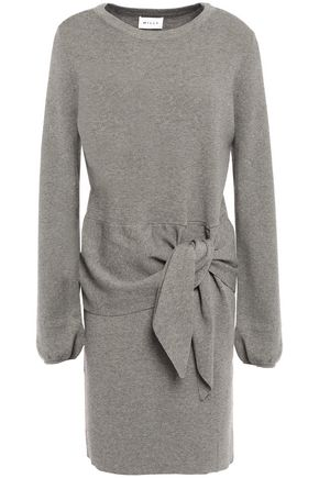 Milly | Milly Woman Knotted Knitted Mini Dress Gray | Clouty