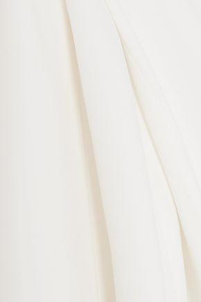 Stella McCartney   Stella Mccartney Woman Lace-up Cady Maxi Dress Ivory   Clouty
