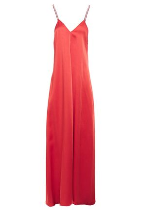 Forte Forte   Forte_forte Woman Satin-crepe Maxi Slip Dress Red   Clouty