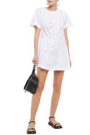 MARQUES'ALMEIDA | Marques' Almeida Woman Gathered Cotton-jersey Mini Dress White | Clouty