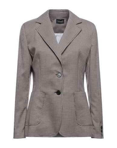 (A.S.A.P.) | Красно-коричневый Женский пиджак (A.S.A.P.) фланель | Clouty