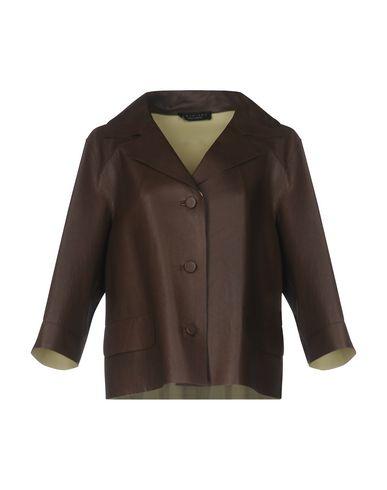 Twin-Set | Женский темно-коричневый пиджак TWINSET кожа | Clouty