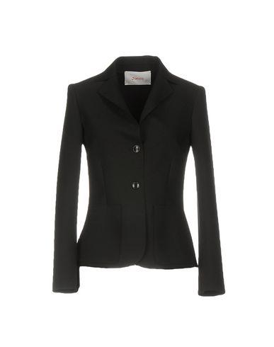 Jucca | Черный; Слоновая кость Женский черный пиджак JUCCA стрейч | Clouty