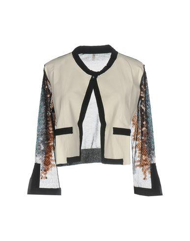 Udiaviu | Белый; Оранжевый Женский белый пиджак UDIAVIU кожа | Clouty