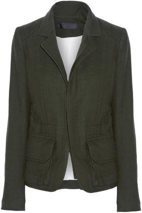 Haider Ackermann | Haider Ackermann Woman Felt-trimmed Wool Jacket Dark Green Size 38 | Clouty