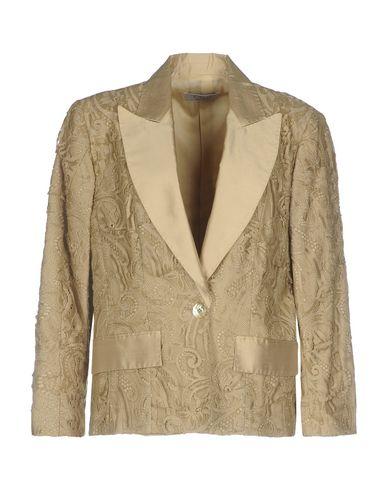 Clips | Женский бежевый пиджак CLIPS шантунг | Clouty