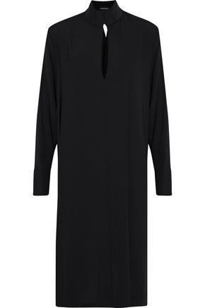 By Malene Birger | By Malene Birger Woman Cutout Crepe Dress Black | Clouty