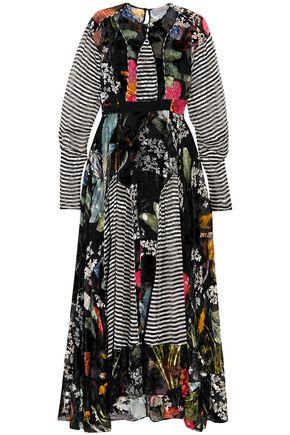 Preen By Thornton Bregazzi | Preen By Thornton Bregazzi Woman Audrey Printed Devore-chiffon Midi Dress Black | Clouty