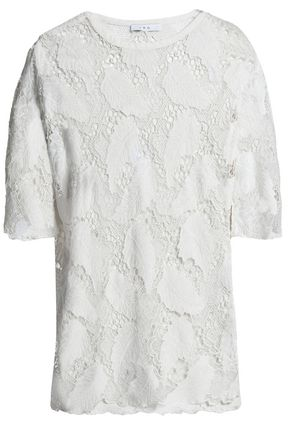 IRO | Iro Woman Embroidered Modal Top Ivory Size 34 | Clouty
