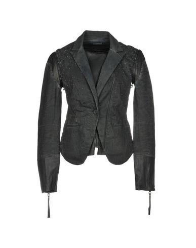 LEPAPROCK | Женский черный пиджак LEPAPROCK кожа | Clouty