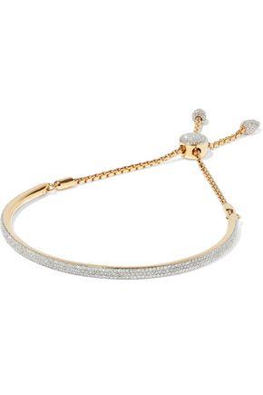 MONICA VINADER | Monica Vinader Woman Fiji 18-karat Gold-plated Sterling Silver Diamond Bracelet | Clouty