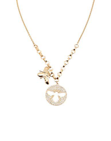 Swarovski | Золотистый Женское золотистое ожерелье SWAROVSKI с золочением | Clouty