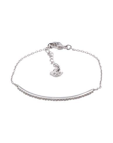 Swarovski | Женский серебристый браслет SWAROVSKI регулируемая застежка в виде цепочки и крючка | Clouty