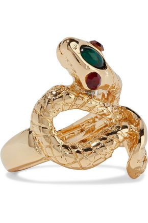 Kenneth Jay Lane | Kenneth Jay Lane Woman Gold-plated, Stone And Crystal Ring | Clouty