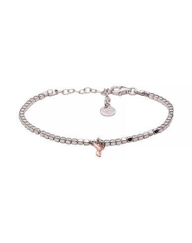 JACK&CO   Женский серебристый браслет JACK&CO покрытие розовым золотом   Clouty