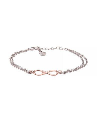 JACK&CO | Женский серебристый браслет JACK&CO покрытие розовым золотом | Clouty