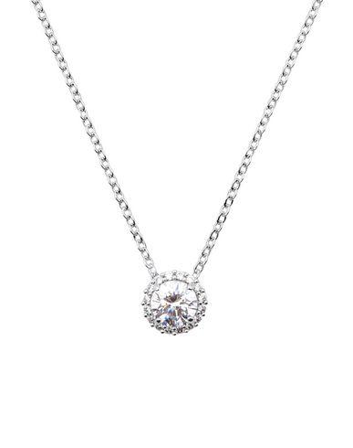 Swarovski | Серебристый Женское серебристое ожерелье SWAROVSKI родиевое покрытие | Clouty