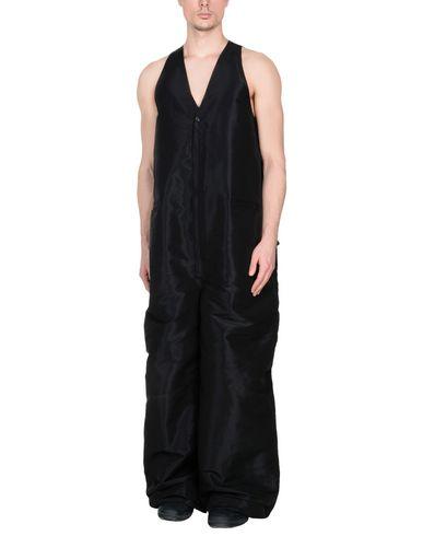 RICK OWENS   Черный Мужские черные комбинезоны без бретелей RICK OWENS техническая ткань   Clouty