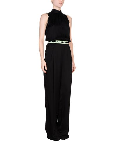 Versace Jeans   Черный Женские черные комбинезоны без бретелей VERSACE JEANS атлас   Clouty